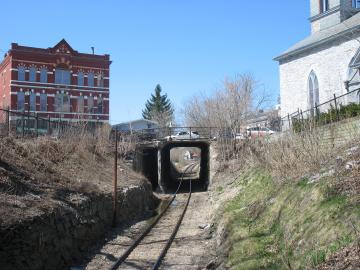 Railroad Tracks Underneath Middlebury Center