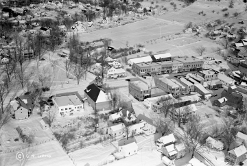 Aerial Shot of Bristol Village, December 9, 1938