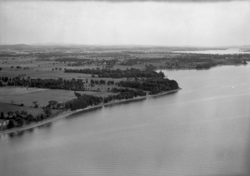 Aerial Photograph of Lake Shore