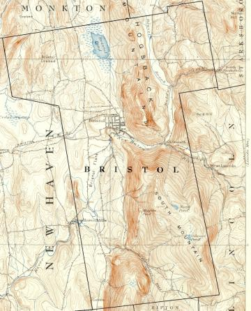 1910 topo map of Bristol showing street
