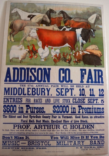 57th Addison County Fair Poster