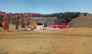 Warden Farmhouse with Foliage