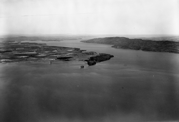 Aerial Shot of Lakefront Ferrisburg