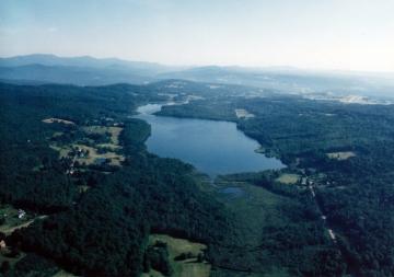 Aerial of Berlin Pond