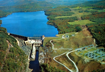 Aerial View of Comerford Dam