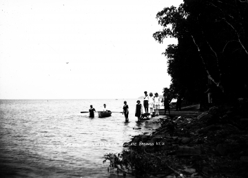 Bathers at Platts Camp in Highgate Springs