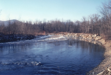 Bend in the Little River in Winter