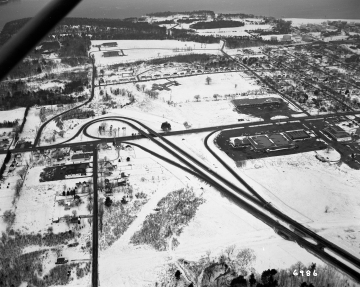 Aerial of Burlington Area: End of Highway