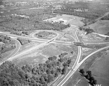 Aerial Image of Interstate: School and Baseball Field