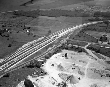 Aerial View of Winooski Area: Drive in Theater and Farm