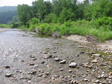 A Rocky Path over the Huntington River