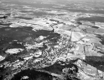 Airplane View of East Middlebury