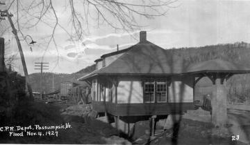 C.P.R. Depot, Passumpsic, VT 1927