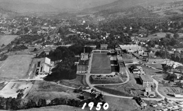 Aerial view of Norwich University 1950