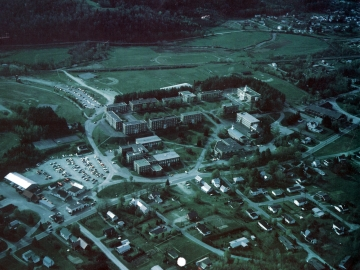 Aerial view of Norwich University and community