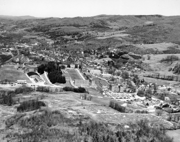 Aerial of Norwich University and Northfield