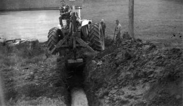 Arthur Roy Digging at Warden Farm