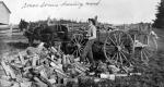 Amos Somers hauling wood
