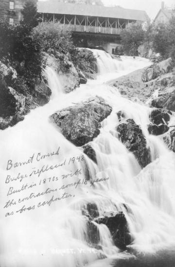 Stevens Falls and Barnet Covered Bridge