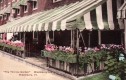 """Close-up of """"The Terrace Garden"""" at Middlebury Inn"""
