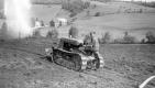 Robert Warden on Tractor