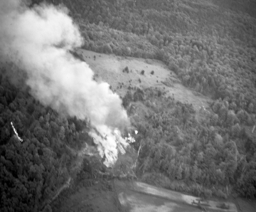 Aerial Photo of a Fire
