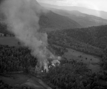 Aerial Photo of Forest Fire