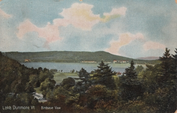 Aerial Postcard of Lake Dunmore