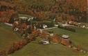 Aerial of Breadloaf campus in fall