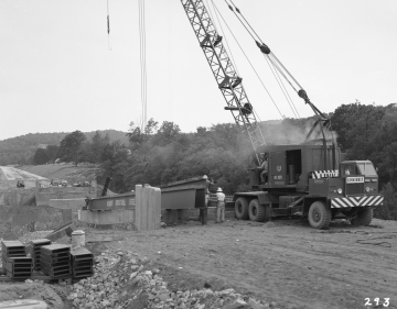 Construction of Broad Brook Bridge