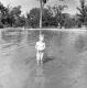 A Girl Enjoys the YMCA Pool