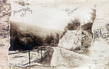 """The Rocks"" in Woodford, Looking West towards Bennington"