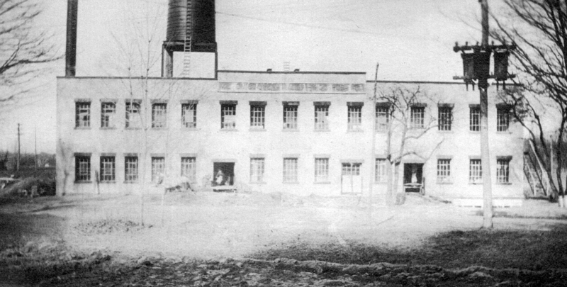 The newly constructed Milton Creamery. The ground still muddied and rutted from building it. 1919. Via UVM Landscape Change Program