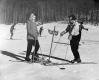 Bernie Neveu and Pupil at Ski School