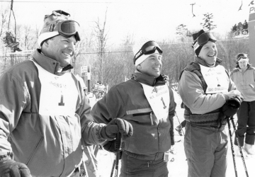 A Group of Men at a Ski Mountain