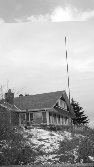 the flagpole at the Skyline, Hogback Mountain