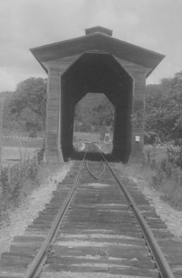 Wooden railroad structure