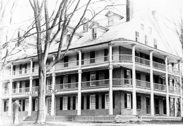 A view of the Clarendon Springs Hotel