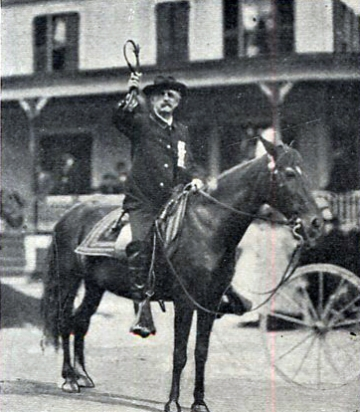 Middlebury's mounted marshal
