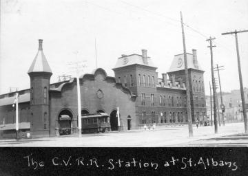 C.V.R.R Station at St. Albans