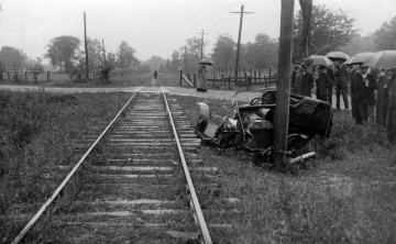 Accident along side the Railroad Tracks