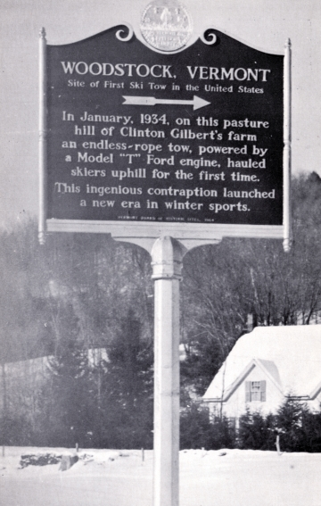 1st Ski Tow in U.S.A commemorative plaque
