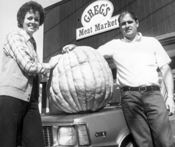 Men and Woman with Pumpkin
