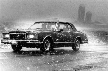 Automobile in Blizzard
