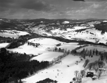 Aerial View Woodstock Taftsville Covered Bridge