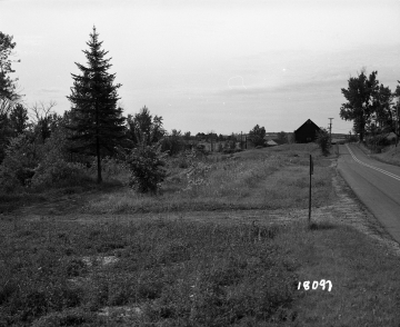 Alexander Property, Barn and Farm Field near Railroad Tracks