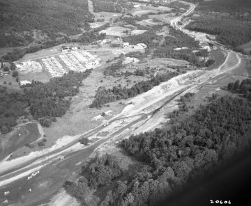 Aerial Photograph of I-89 Construction in Barre