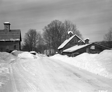 Barns on Snowy Highway