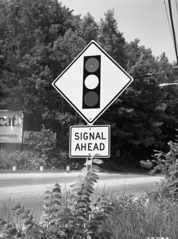 """Signal Ahead"" Sign"