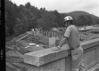 Dick Russell, Resident Engineer Overlooking New Construction Site